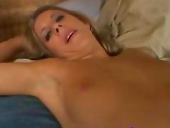 Blonde fucked and jizzed in pantyhose