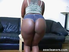 Be seduced with fat bouncing ebony ass cheeks