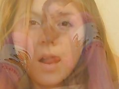 Upskirt with reading teen