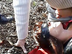 Sex slave wife pissed on in the park again