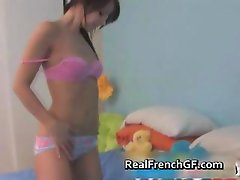 Teenie french amateur hot anal dildoing part4