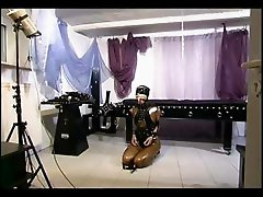Master torturing a naughty slave girl