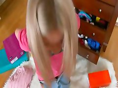 Drilled nympho with huge toy in anus