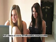 Claire and Danielle ingenious hot lesbians kissing