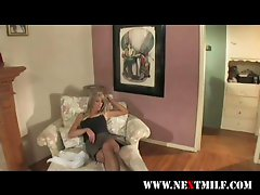 beautiful blonde but desperate wife seduces teen boy