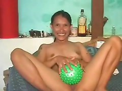 Asian Big Pussy Ball Pumping