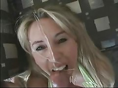 Dirty slutty whore loves spunk on her face  PLEASE COMMENT