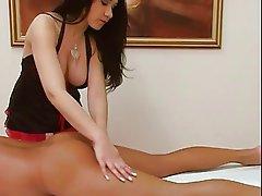 Nice massage hand & blowjob