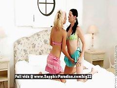 Mischelle and Hailee stunning stunning lesbians undressing