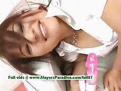 Miina hot girl naughty Chinese gal gets pussy licked and undressing