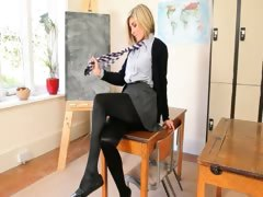 Horny teacher posing body just for you