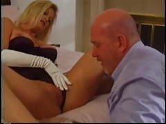 Blonde is fucked by a bold guy