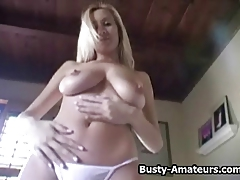 Autumn strip and fingering her pussy