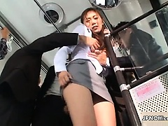 Sexy asian babe gets her body rubbed