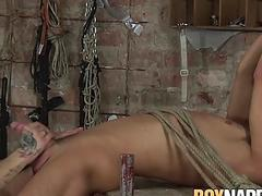 Tied up twinkie dicked hard by backdoor bandit master