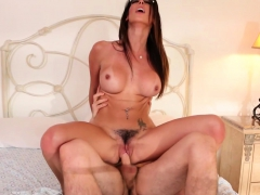 Dava Foxx takes on a dick in her bedroom