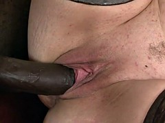 Grandma loves her leased massive black cock in her ass