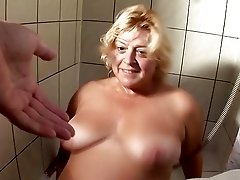 Lush big boobed retro Dutch mature strokes shaved cunt and blowjobs big cock