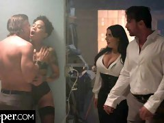 Seduced wife Angela White is getting orally fucked multiple times