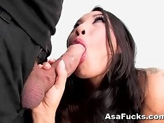 Asa Akira blowjob and anal sex