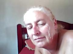 madura chupando webcam