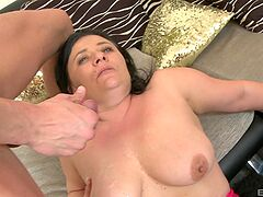 Busty mature reaches orgasm with her nephew