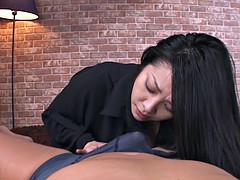 Busty hairy Asian MILF gets her  pussy drilled without any mercy