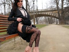 Small-tit secretary Eveline Dellai definitely likes rough anal sex