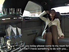 bored rich girl minako uchida sucks her driver's dick and swallows