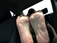 Bella dzheyms foot fetish goddess in the car