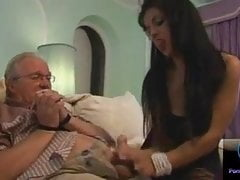 Latina teases older daddy