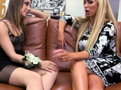 Tight teen Remy Lacroix and busty milf Nikki Benz horny trio