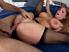anal milf darla crane takes massive shlong all the way into her ass hole