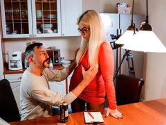 Beautiful nerdy blonde Mariella Sun gets fucked by a long dick