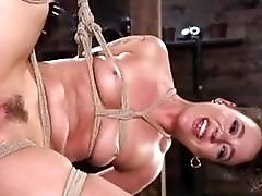 Slave bitch got her pussy destroyed while bound BDSM maledom
