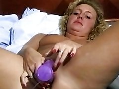 Retro blonde with small tits from Sweden in hot vintage masturbation video