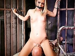 Dungeon jail cell fuck with cute blonde slut