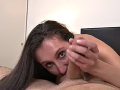 lina cole gives head until her mouth's filled by semen