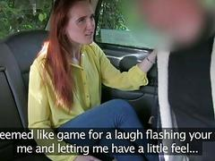 Tight redhead screwed up by fraud driver