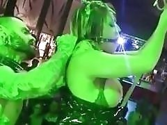 Slave with big boobs bound and humiliated in public BDSM