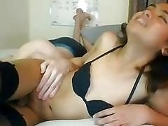 Sensation cock sucking action for a horny little shemale cutie