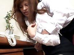 Naughty Japanese secretary fucked by her boss