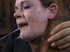 Gorgeous cutie receives senseless caning