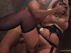 giantess with mega curves tori avano is savagely ducked by master ramon