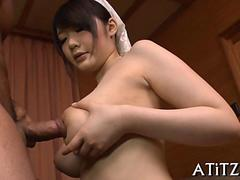 big tits asians salacious toying clip