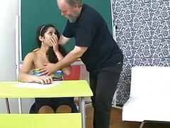Older teacher fucks naughty playgirl senseless