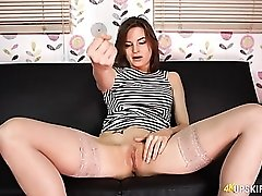 Jerk off to this tight shaved pussy