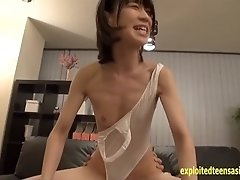 Ayumi Morisaki Skinny Teen In Teddy Gets Fucked Hard On The Couch In This Excellent Threesome Action