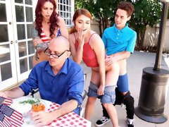 Awesome FFM action with Monique Alexander and Adria Rae
