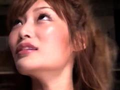 Sexy Oriental girl with perky boobs takes a deep pounding